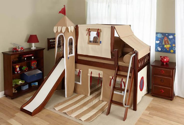 Boys Castle Bed with Slide