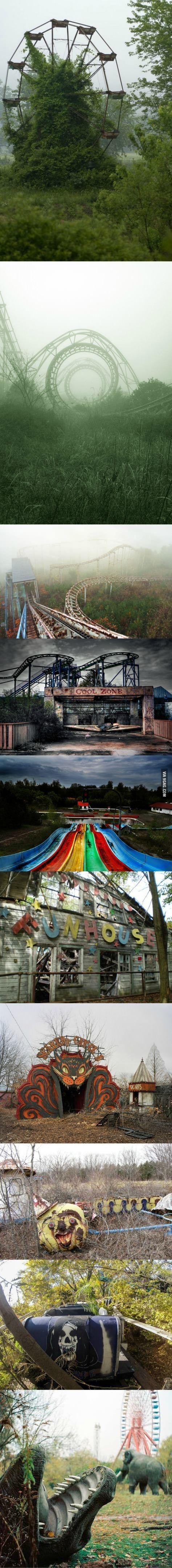 Mais bonito que se estivesse em funcionamento. Creepy amusement park