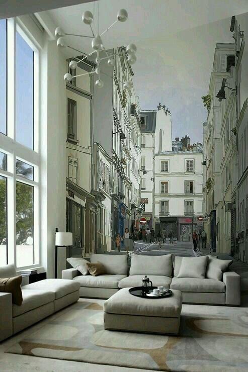 Dein Wohnzimmer In Einer Kleinen Seitenstraße. Das Ist Eine Super Idee Um  Einem Wohnzimmer Ein Gewisses Etwas Zu Verleihen.