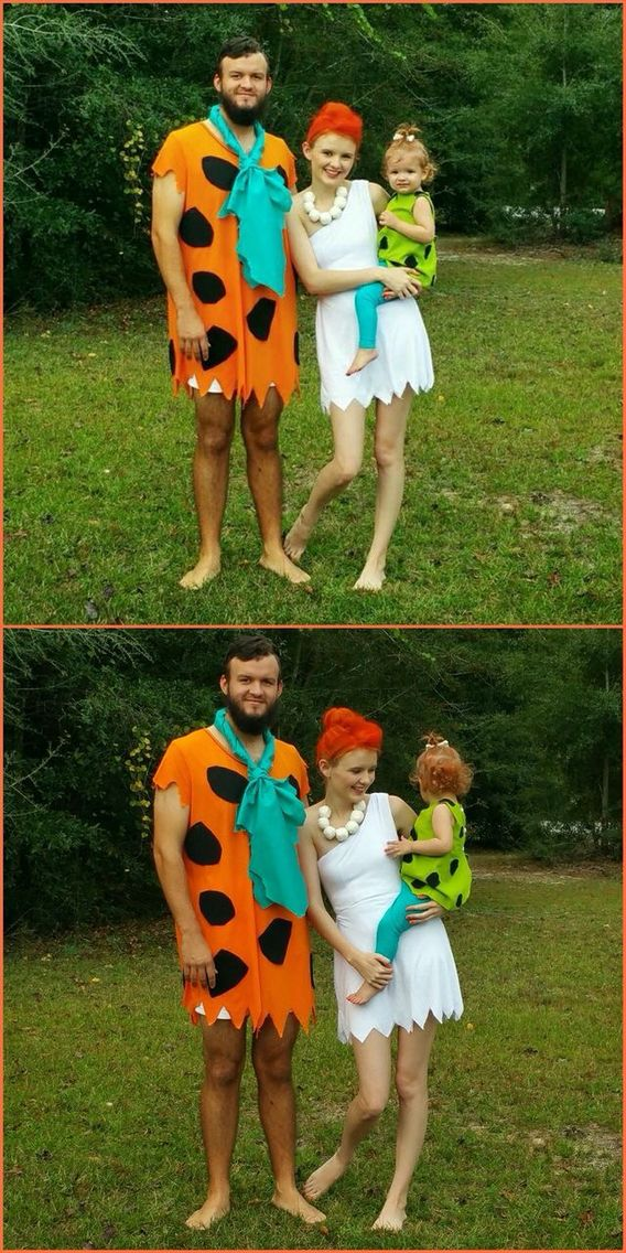 Our family Halloween costume DIY Halloween costume  The Flintstones Halloween…