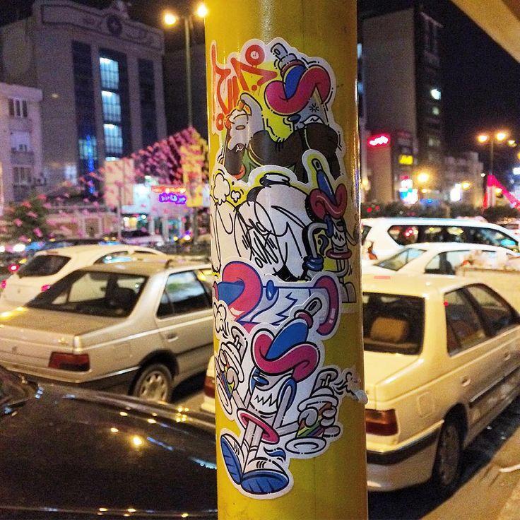 @everythingbyenosh: #gorbe mostaghim az #tehran #iran . #gorbesticker #stickerbomb #stickerrrrr  Make your own sticker packs for as low as $9.99 at StickerYou: http://www.stickeryou.com/2/products/custom-stickers/335