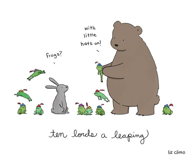 """""""Ten Lords A-Leaping"""" by Liz Climo"""