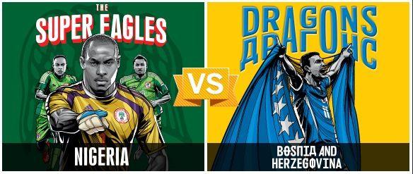 GRUPO F / #NGA vs #BIH (1 - 0) / 21.06.14 / Arena Pantanal (Cuiabá)