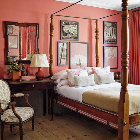 Benjamin Moore Coral Essence Bedroom Design Ideas