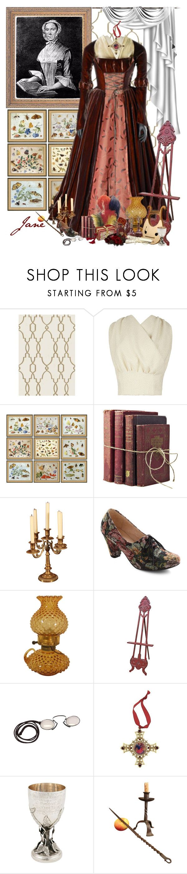 """Jane Rolfe"" by sh0shan ❤ liked on Polyvore featuring Cole & Son, Emilia Wickstead, Soicher Marin, Chelsea Crew, EASEL, The Vatican Library Collection, women's clothing, women's fashion, women and female"