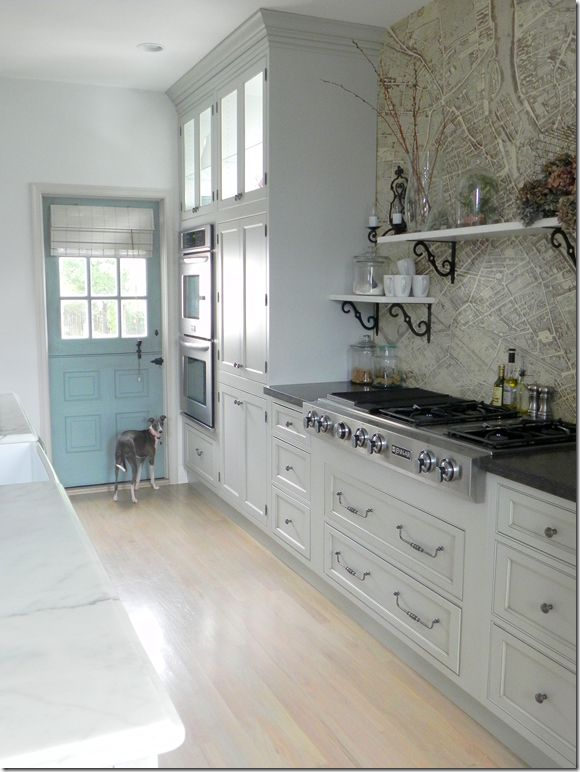 love everything about this kitchen. Turquoise dutch door. Could it get more perfect?