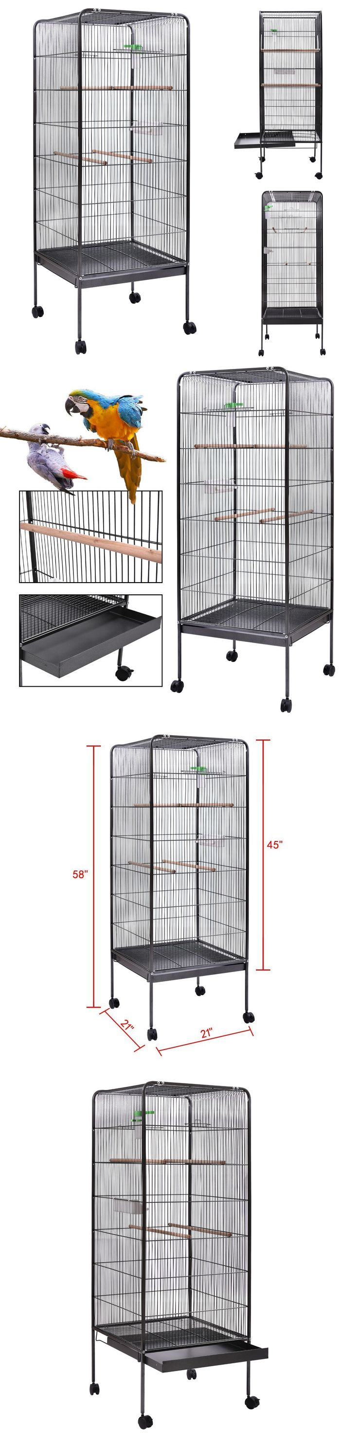 Cages 46289: 58 Flattop Parrot Finch Cage Play Top Pet Supplies W/Perch Stand Two Doors -> BUY IT NOW ONLY: $57.59 on eBay!