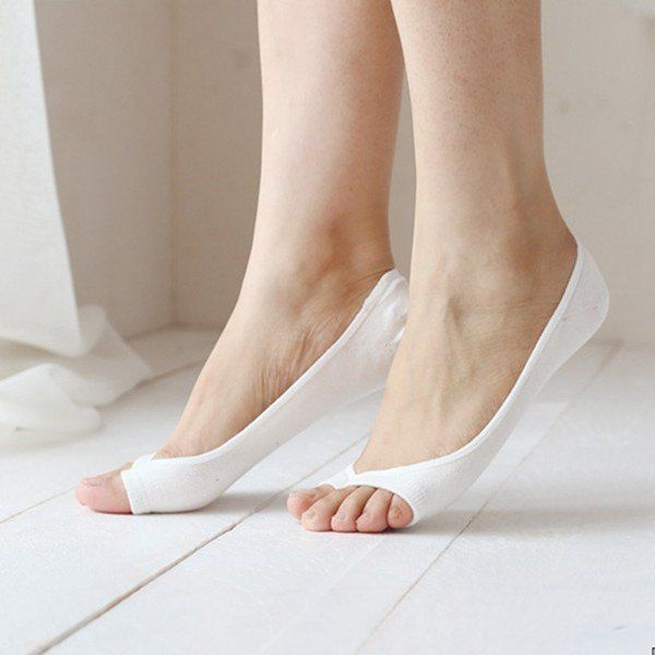 Toeless pantyhose target can suggest