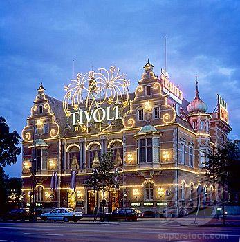 Tivoli Gardens - Copenhagen, Denmark. August 6, 1960 fireworks for my father's birthday.