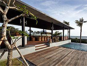 Outdoor living at Arnalaya Beach House.