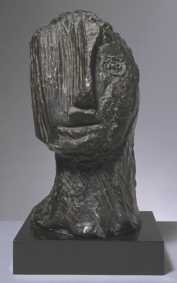 Jean Fautrier (1898–1964), Large Tragic Head/Grande tête tragique, 1942 | Tate