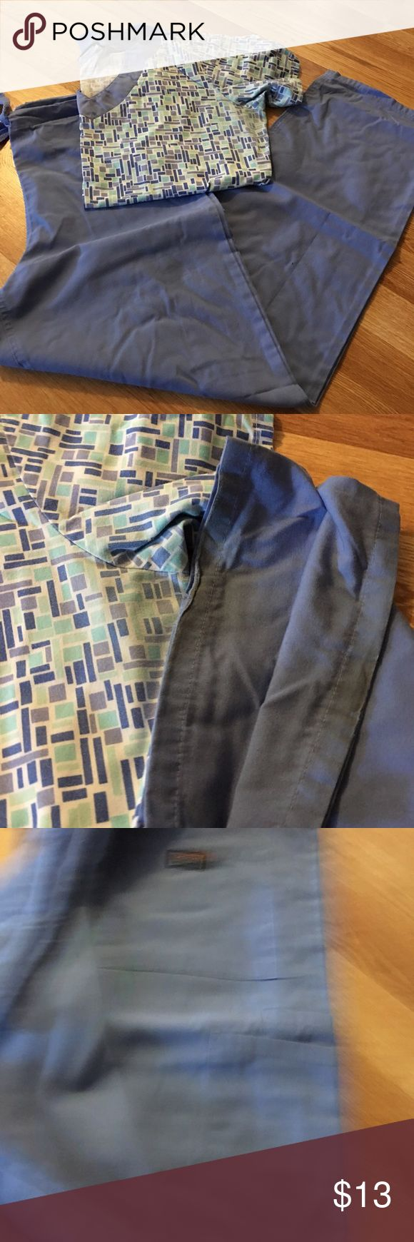 SCRUB SET Scrub set size extra small pant and small top. Light fading under arms and bottom of pants have stained as pictured Other