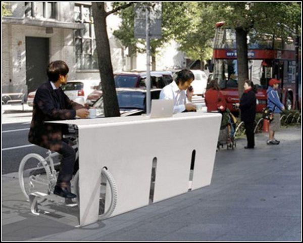 Parking-table. Park and work anywhere!