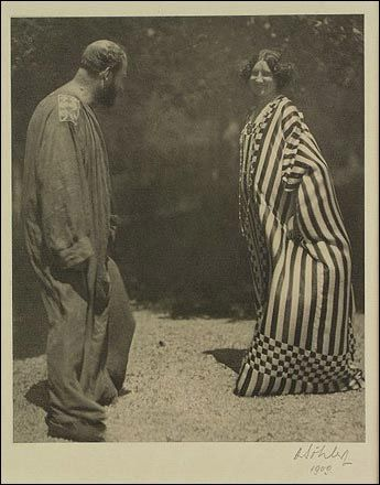 Moritz Nähr~ Emilie Flöge and Gustav Klimt c.1905  Lentos Kunstmuseum Linz via Artadox