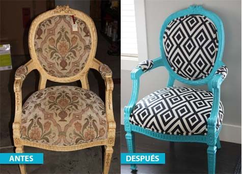 5 Ideas para transformar o redecorar una silla antigua.   Mil Ideas de Decoración