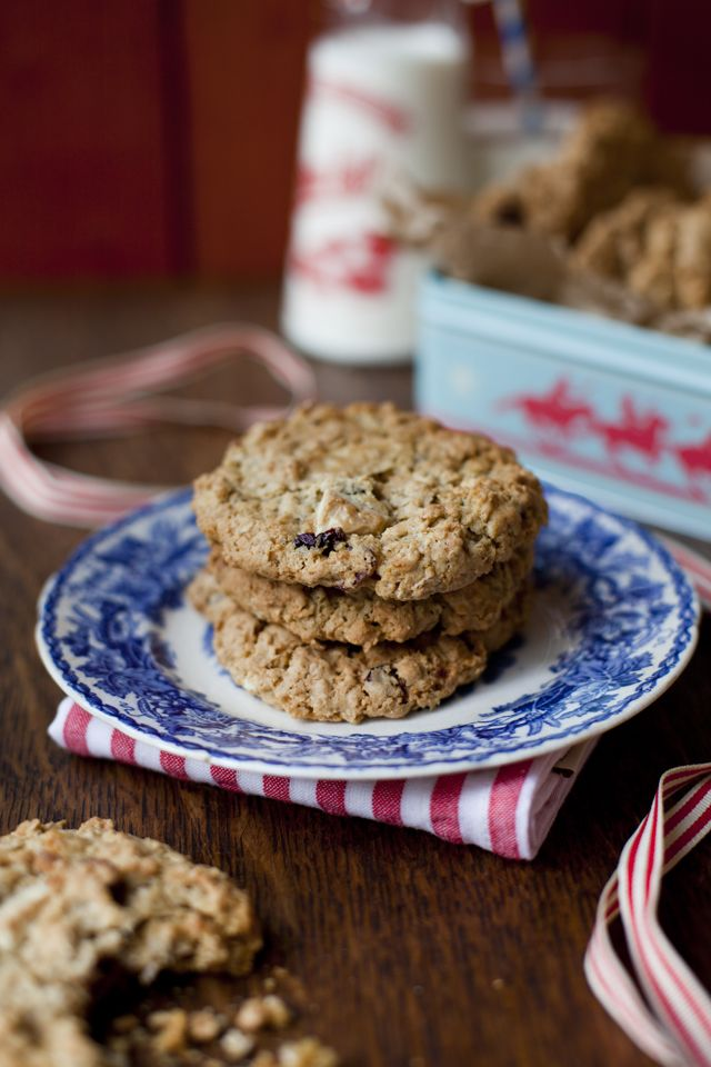 Cranberry & white chocolate cookies...Santa would approve of these festive treats! | DonalSkehan.com