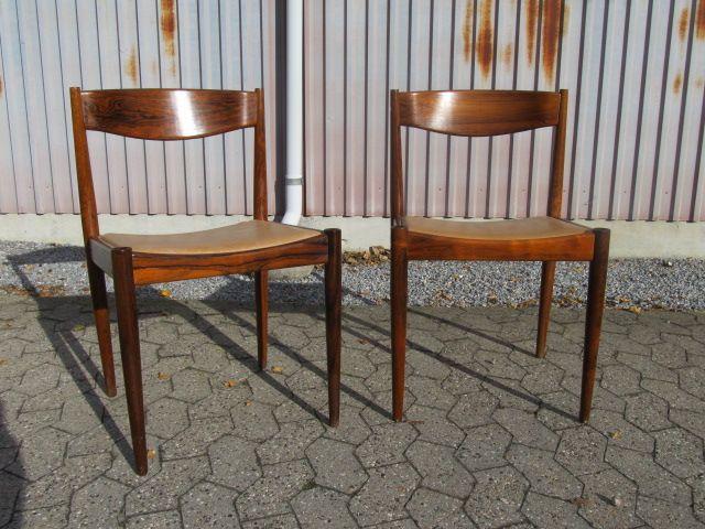 2 stk. palisander stole fra Bramin møbelfabrik. Se dem til salg på www.retrosiden.dk