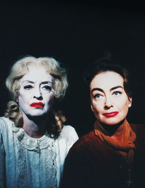 Joan Crawford and Bette Davis photographed for What Ever Happened to Baby Jane, 1962