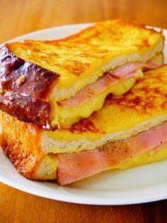 モンティクリスト♪ネットで話題の朝ごはん簡単レシピ |カナダうまれのオシャレなサンドイッチレシピです。サンドイッチを焼くだけでできるから、忙しい朝にもオススメです。