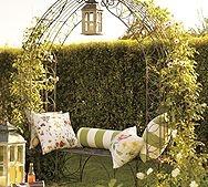 garden: Decor Ideas, Trellis Benches, Arbors, Gardens Arches, Gardens Trellis, Outdoor Spaces, Pottery Barns, Design, Gardens Benches