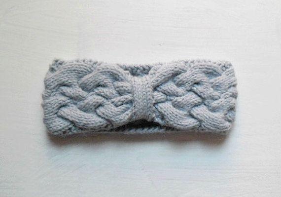 Fascia per capelli lana e alpaca blu pervinca di TheHuggingYarn