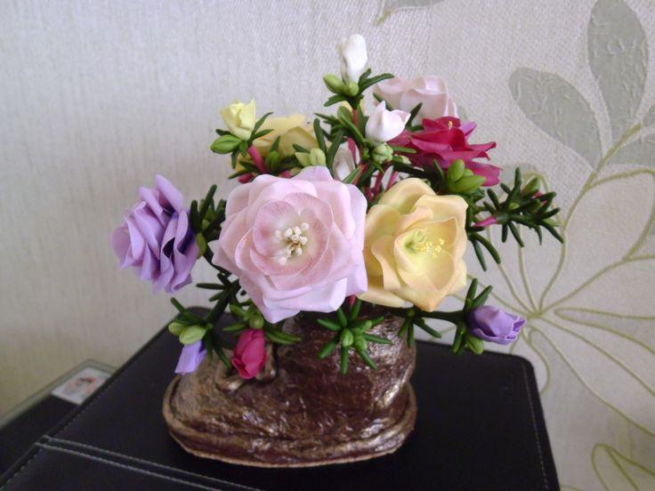 цветы в башмаке