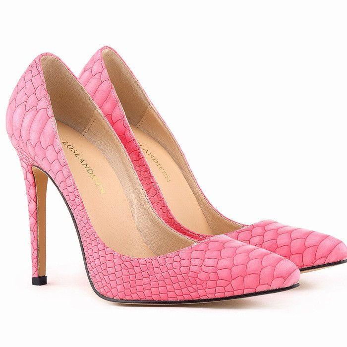 Pump Women Shoes Snake Leopard Zebra Grain Thin High Heels