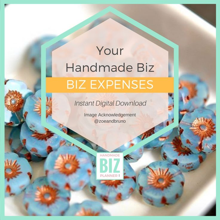A Handmade Business Expenses worksheet designed to record your monthly business expenditure.