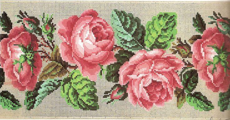 cross stitch floral border patterns - Поиск в Google