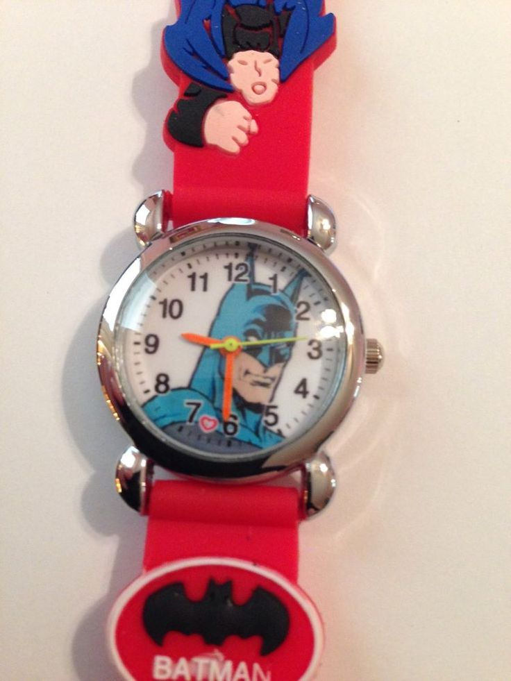 NEW Red BATMAN BOYS SILICONE 3D WRISTWATCH #Unbranded #CartoonIdol