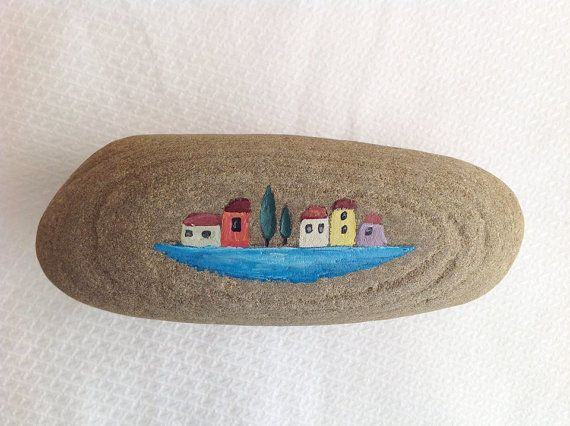 Hand painted rock / beach stone /