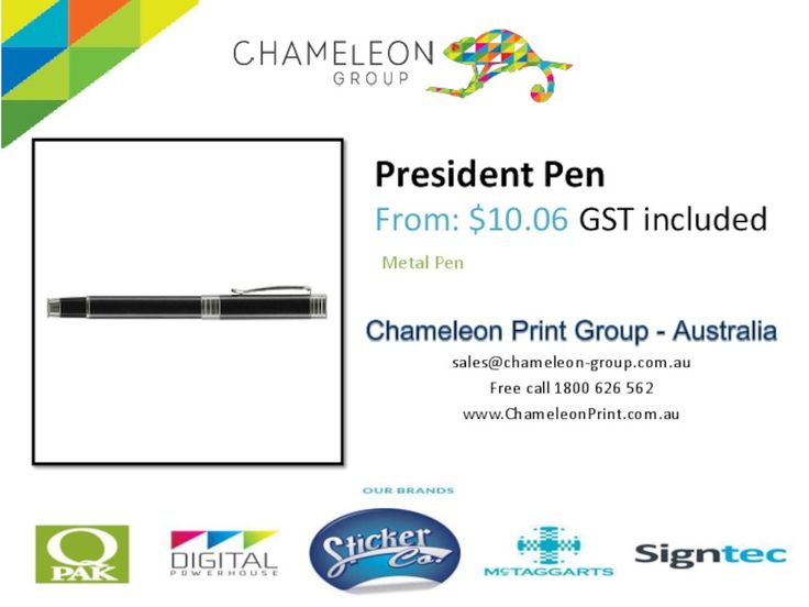 """Brass rolling ball pen with a """"""""capless"""""""" rolling ball refill that will not dry out even if the cap isn't replaced after use. Has a Black ink Schneider Topball 850 rolling ball refill with 1500 metres of writing ink and a .05mm tip. The barrel laser engraves to a brass colour.  http://chameleonprint.com.au/product/heritage-rimu-pen/"""