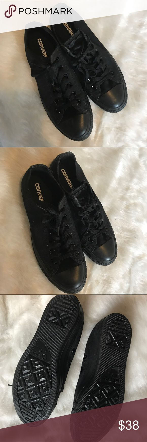 All black chuck Taylor all star converse black 9 Solid black chuck Taylor all star converse shoes size 9. Barely worn only some light wear on soles. Converse Shoes
