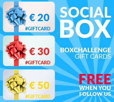 Follow us and you could win one of those giftcards!