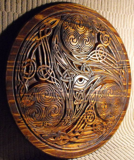 Celtic Eye Knot by cassedywooddesigns on Etsy, $82.00
