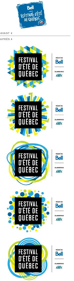 new identity of the Quebec City Summer Festival logo