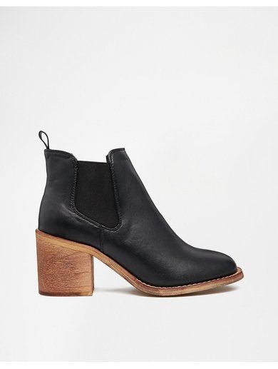 River Island Gusset Block Heeled Ankle Boots - Blackhttp://sellektor.com/all?q=river+island