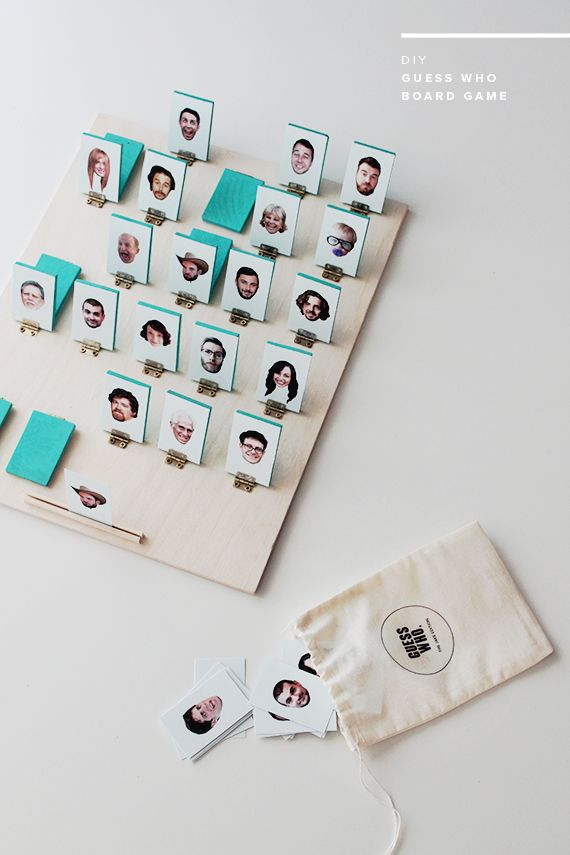 DIY photo guess who board game