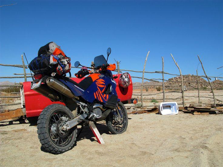 KTM 990 Adventure at Coco's Corner Gate. Baja, Mexico. Right on.