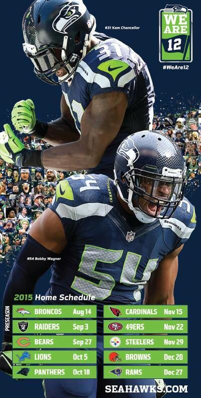 Here we come NFL ready to dominate!! SEAHAWKS
