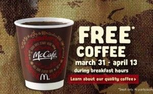 Free Coffee at McDonald's Through April 13 - Houston On The Cheap