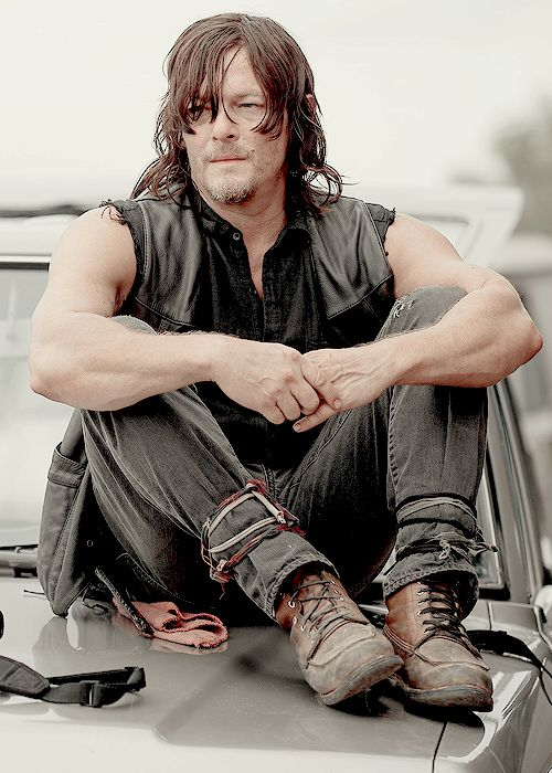 (Open with Daryl) I sit on the hood of my truck after a simple hunt. It was my first hunt in a few months I thought it went pretty well. I'm thinking about how well the hunt went and I don't notice you walk up behind me.