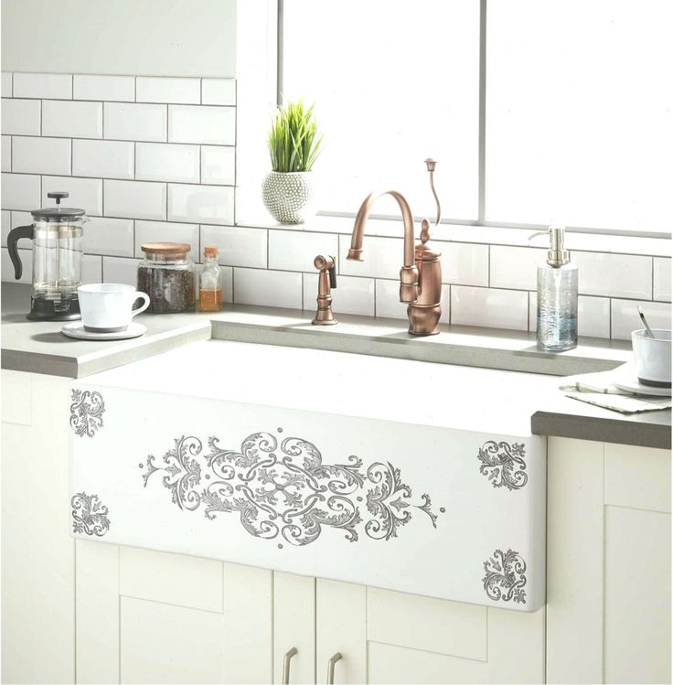 30 bruno fireclay farmhouse sink gray motif kitchen
