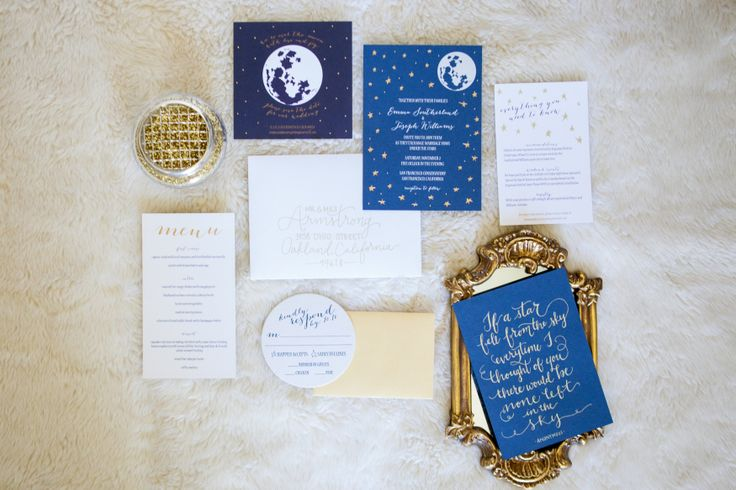 Premium Invitation Printing techniques for your wedding. Gold foiled invitations via Engaged & Inspired. Design by: Bright Room Studio. Photography by: Lili Durkin