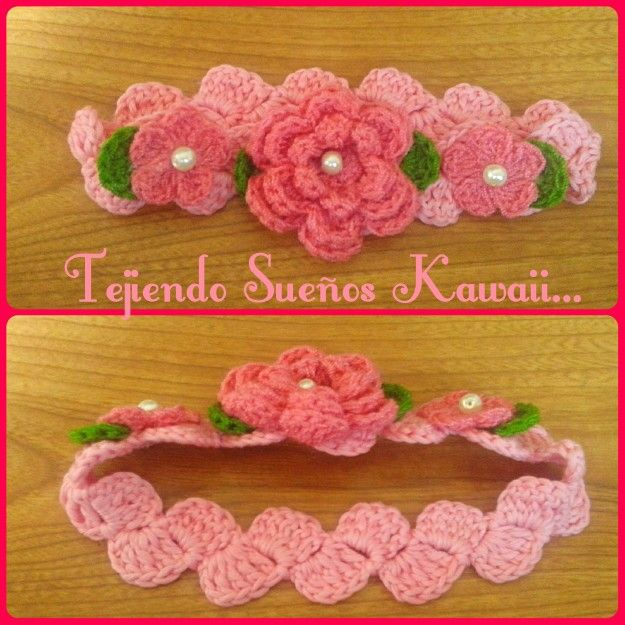 17 best images about crochet mis creaciones on pinterest - Diademas a crochet ...