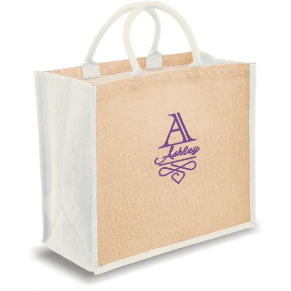 Personalized Bridal Tote Bags with name and monogram