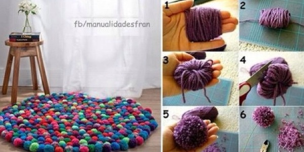 Puff ball rug.