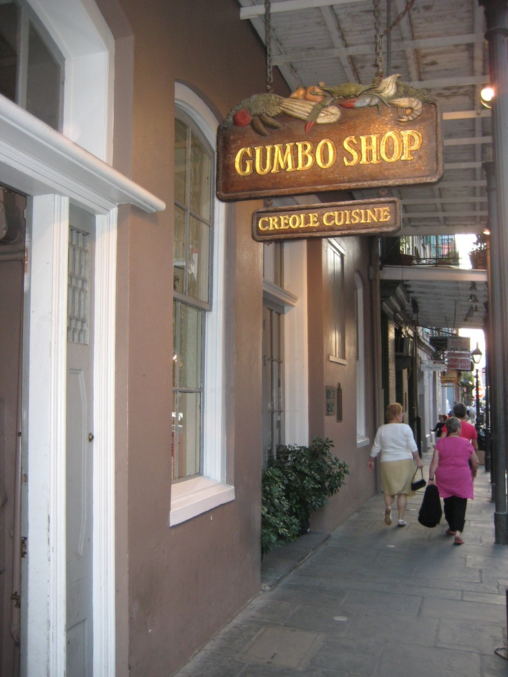 Gumbo Shop restaurant. Excellent Food!  French Quarter.  New Orleans, Louisianna