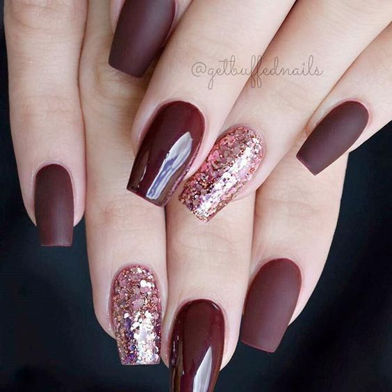 21 Stunning Burgundy Nails Designs That will Conquer Your Heart: Matte Burgundy Nails #nails; #nailart; #naildesigns