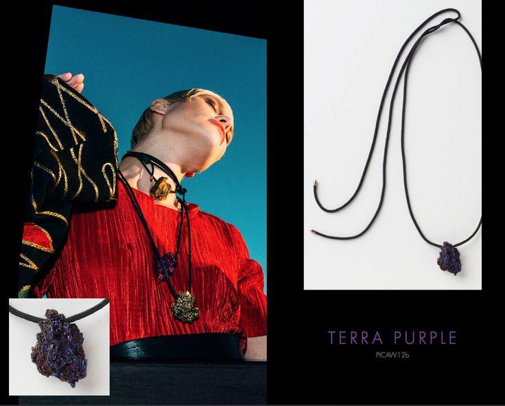 Terra Purple Neckpiece, Buy online: www.pichulik.com/shop
